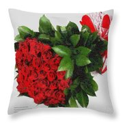 Be Mine Valentine By Presidential Candidate Catherine Lott Throw Pillow