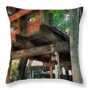 Be Still In This Quiet Place Throw Pillow