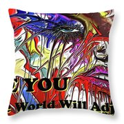 Be You. Throw Pillow by Darren Cannell