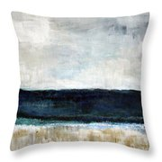 Beach- Abstract Painting Throw Pillow by Linda Woods