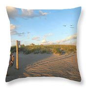 Beach Access 30 Throw Pillow