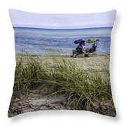 Beach Afternoon Throw Pillow