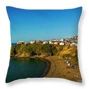 Beach - Ancud Chiloe Throw Pillow