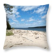 Beach And A Lake Throw Pillow