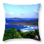 Beach And Cayo Norte From Mount Resaca Throw Pillow