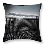 Beach And Fence Throw Pillow