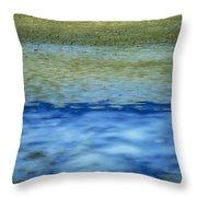Beach And Sea Throw Pillow by Bernard Jaubert