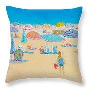 Beach Art - Every Summer Has A Story Throw Pillow
