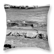 Beach At Dominican Republic Throw Pillow