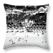 Beach At Grand Turk Throw Pillow