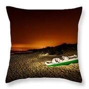 Beach At Night Throw Pillow