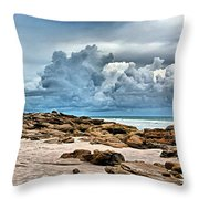 Beach At Washington Oaks Throw Pillow