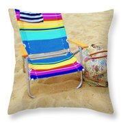 Beach Attire Throw Pillow