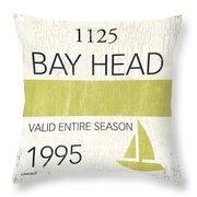 Beach Badge Bay Head Throw Pillow