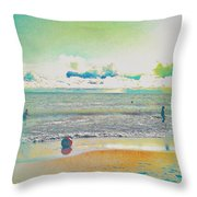Beach Ball And Swimmers Throw Pillow