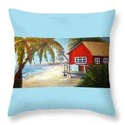 Beach Ball Resort Throw Pillow