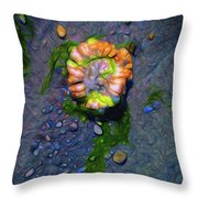 Beach Barnacle Flower Throw Pillow