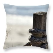 Beach Barrier Throw Pillow