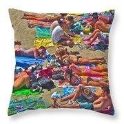 Beach Blanket Bingo Throw Pillow