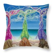 Beach Bliss Buddies Throw Pillow