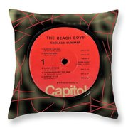 Beach Boys Endless Summer Lp Label Throw Pillow
