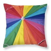 Beach Brolly Throw Pillow