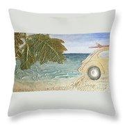 Beach Bug Throw Pillow