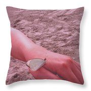 Beach Butterfly Throw Pillow