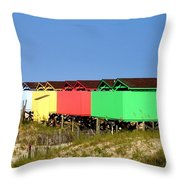Beach Cabanas Throw Pillow