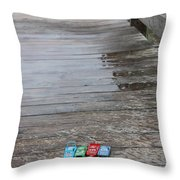 Beach Cars Throw Pillow