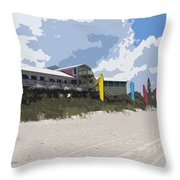 Beach Casino Throw Pillow