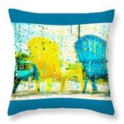 Beach Chair Print Throw Pillow