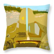 Beach Chair Work Number 3 Throw Pillow