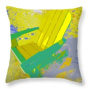 Beach Chair Work Number Six Throw Pillow