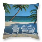 Beach Chairs No. 1 Throw Pillow