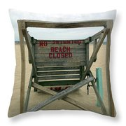 Beach Closed Throw Pillow