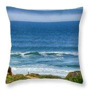 Beach Cloud Streak Throw Pillow