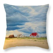 Beach Clouds Throw Pillow
