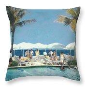 Beach Club Throw Pillow
