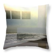 Beach Collage 2 Throw Pillow