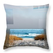 Beach Collage Throw Pillow