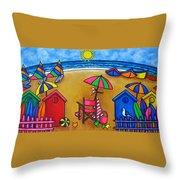 Beach Colours Throw Pillow by Lisa  Lorenz