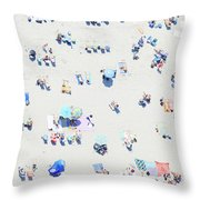 Beach Confetti Throw Pillow