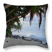 Beach Corner Throw Pillow