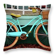 Beach Cruiser Bike Throw Pillow