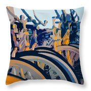 Beach Cruisers At Dawn Throw Pillow