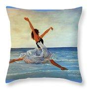 Beach Dancer Throw Pillow