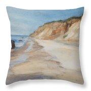 Beach Day Aquinnah Throw Pillow