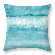Beach Day Blue- Art By Linda Woods Throw Pillow