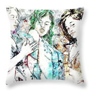 Beach, Digital Throw Pillow